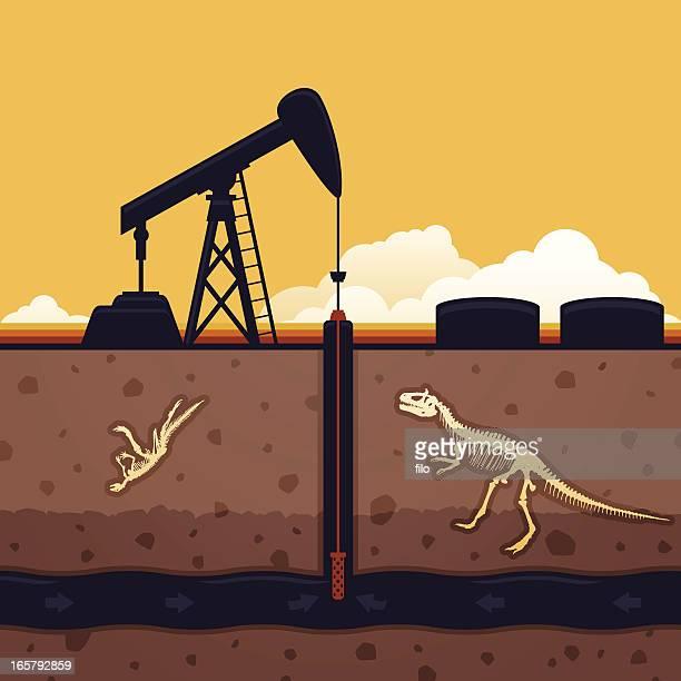 fossil fuel - drilling rig stock illustrations, clip art, cartoons, & icons