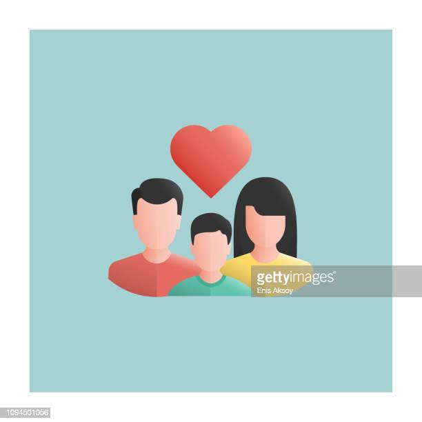 foster care icon - three people stock illustrations