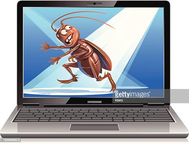 found a bug - computer bug stock illustrations