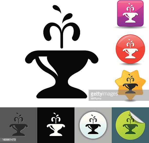 fountain icon | solicosi series - fountain stock illustrations, clip art, cartoons, & icons