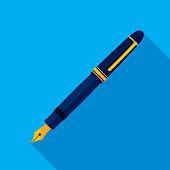 Fountain Pen Icon Flat