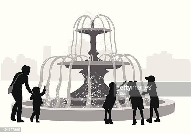 fountainfun - fountain stock illustrations, clip art, cartoons, & icons