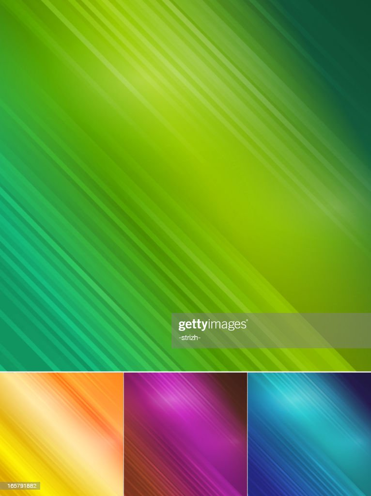Four abstract color blurred background