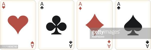 four aces - ace stock illustrations