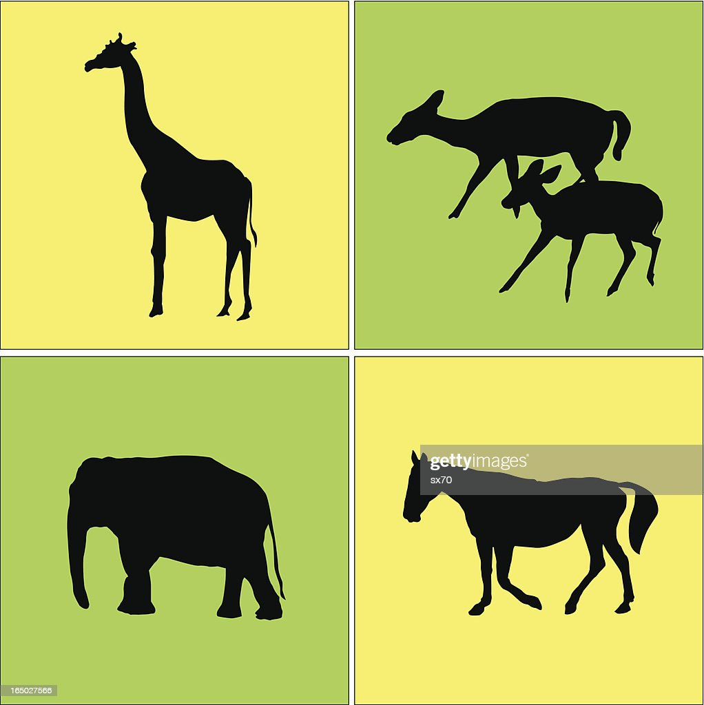 Four Animal Icons  ( Vector )