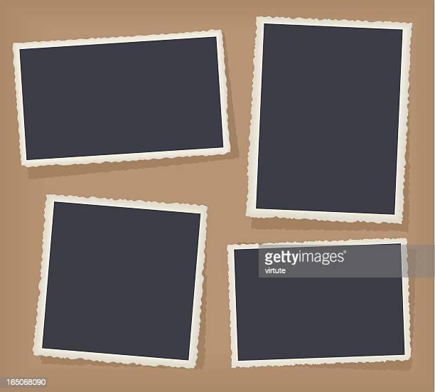 bildbanksillustrationer, clip art samt tecknat material och ikoner med four antique photo borders - fotografi bild
