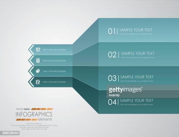 Four arrows infographics