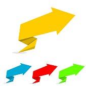 Four Background Web Vector Arrows