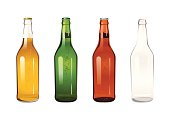 four beer bottles