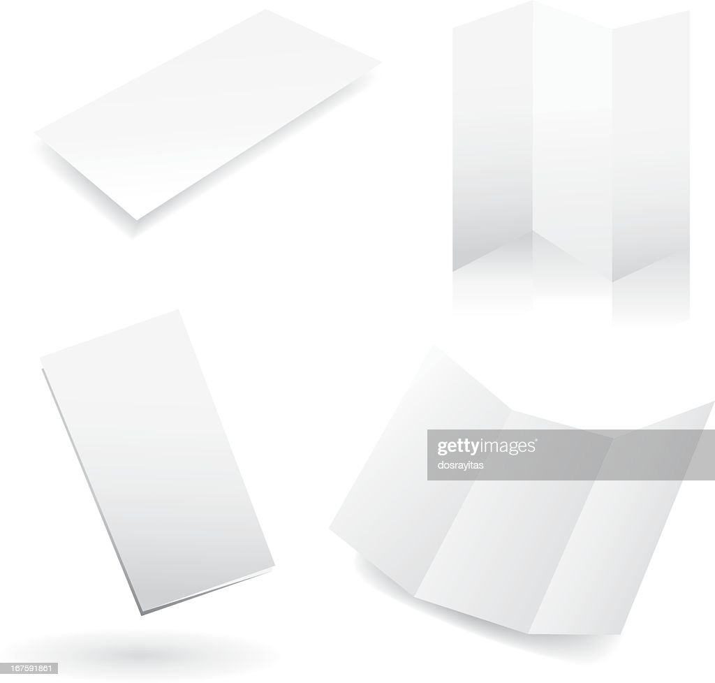Four blank white design templates : stock illustration