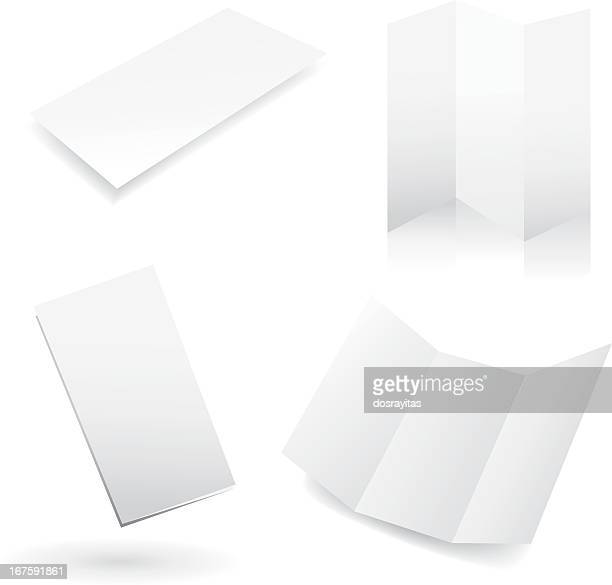 four blank white design templates - no people stock illustrations