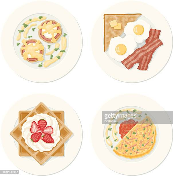 Four Breakfast Plates
