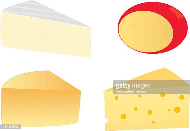 four cheeses - cheddar cheese stock illustrations, clip art, cartoons, & icons