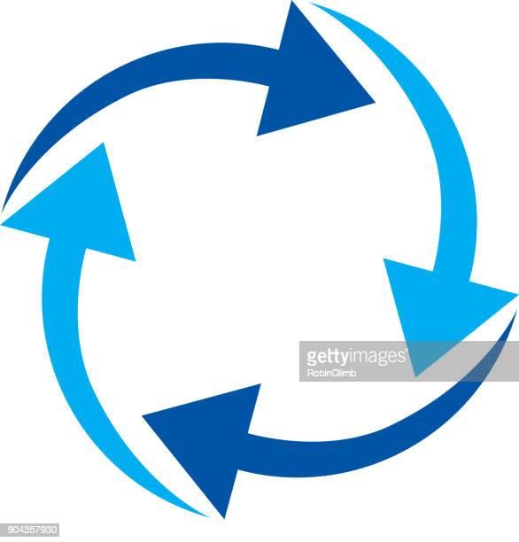ilustraciones, imágenes clip art, dibujos animados e iconos de stock de cuatro flechas azules que circunda - bulimia