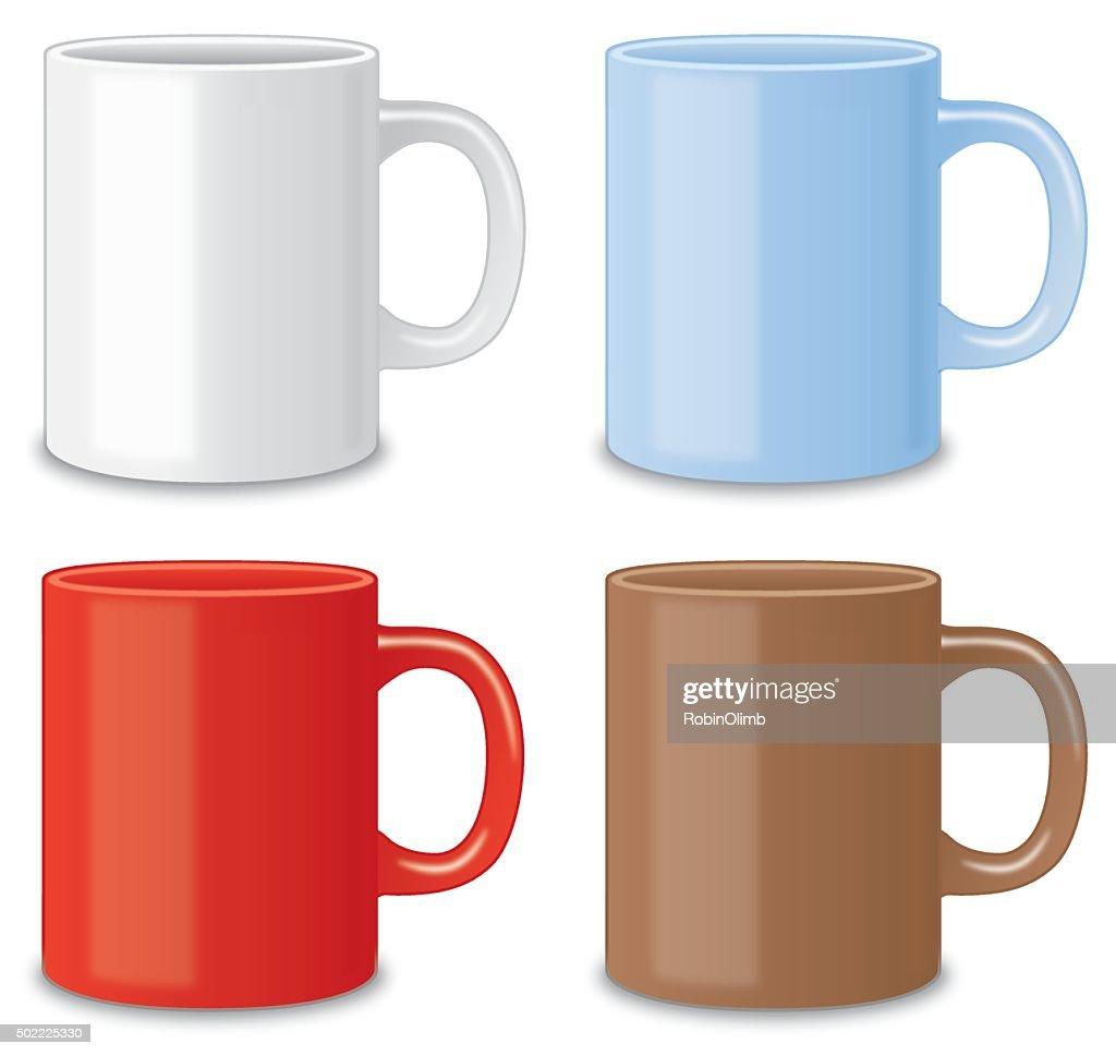 Four Coffee Mugs