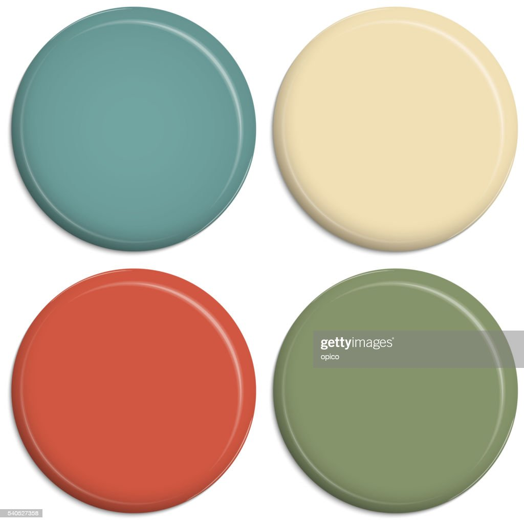 four colored magnetic buttons