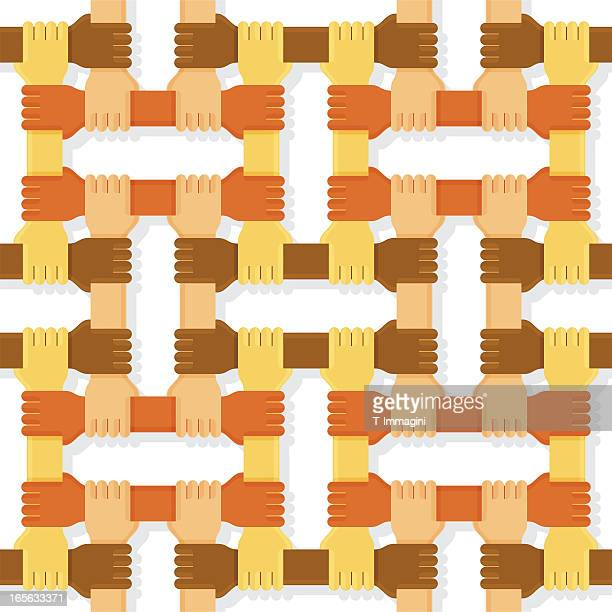 Four colours hands pattern