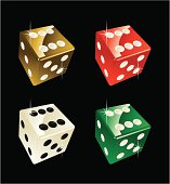 four dices