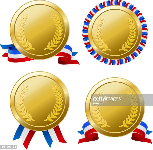 Four Difference Type Medals