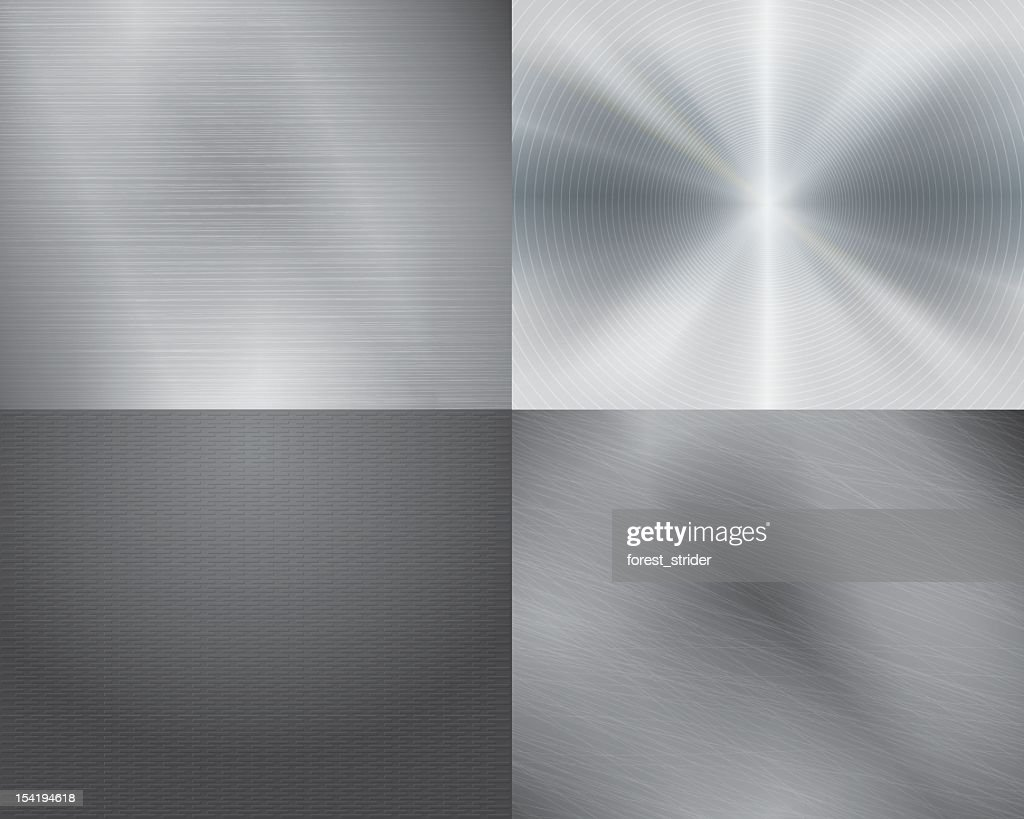 Four different displays of the color grey in gradation : stock illustration