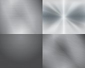 Four different displays of the color grey in gradation