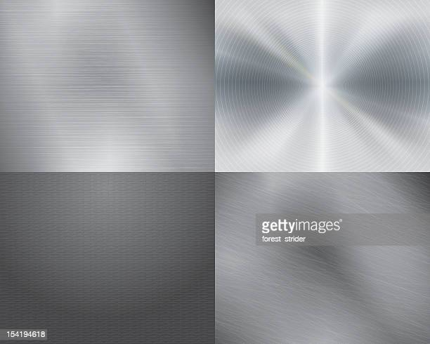 four different displays of the color grey in gradation - metal stock illustrations