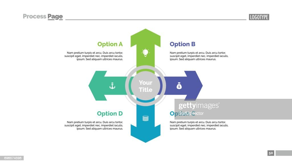 Four directions strategy slide template vector art getty images four directions strategy slide template vector art publicscrutiny Images