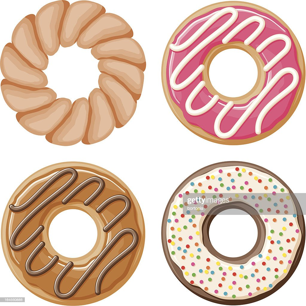 Four Donuts : stock illustration