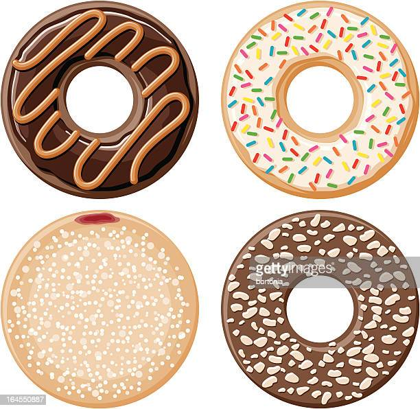 four donuts - donut stock illustrations, clip art, cartoons, & icons