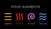 Four elements new stock illustration