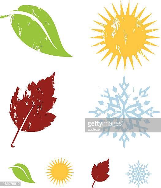 ilustraciones, imágenes clip art, dibujos animados e iconos de stock de cuatro elementos - las cuatro estaciones