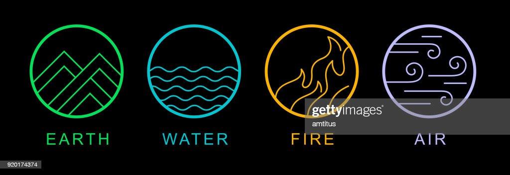 four elements : stock illustration