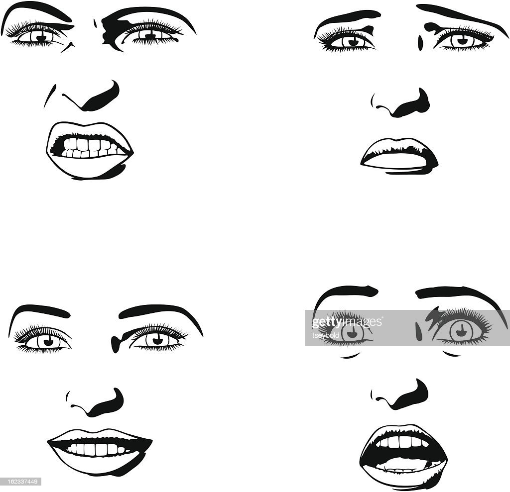 Four Female Expressions