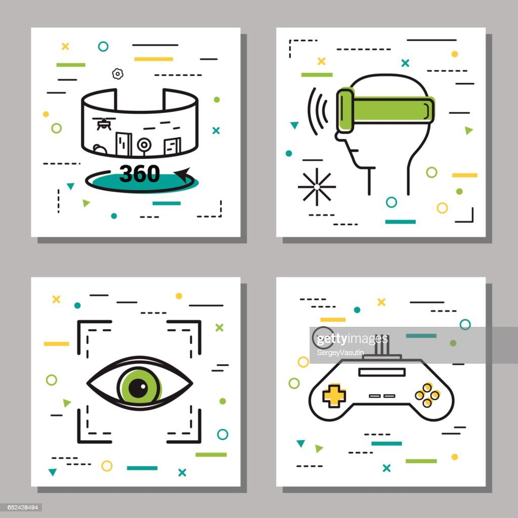 Four finance Thin Line Icons
