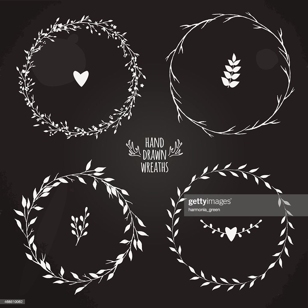four floral wreaths