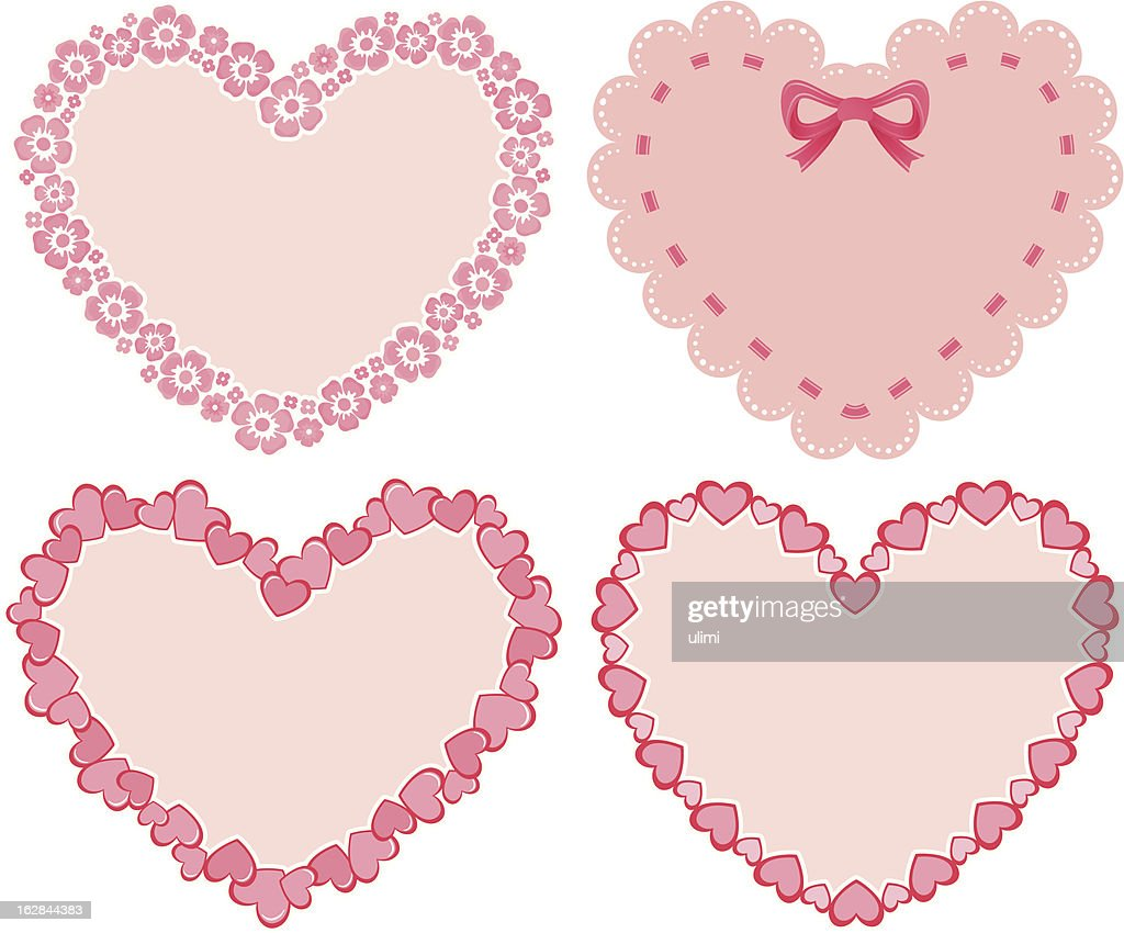 Four Frames For Valentines Day Vector Art | Getty Images