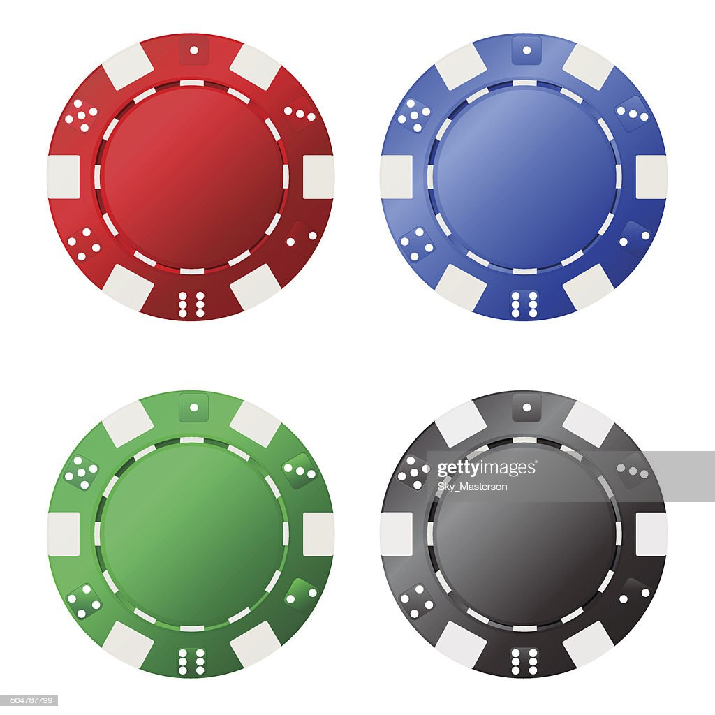 Four gambling chips