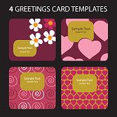 Four Greeting Cards: Valentine's Day