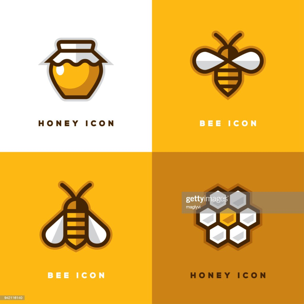 Four honey icons.