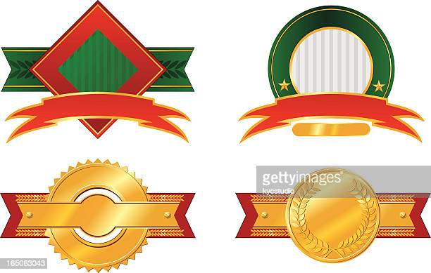 four labels - great seal stock illustrations, clip art, cartoons, & icons