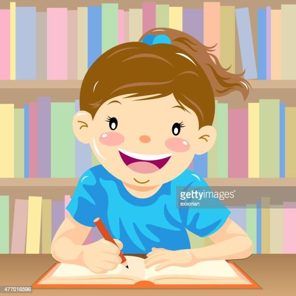 ilustraciones, imágenes clip art, dibujos animados e iconos de stock de cuatro de escritura, las habilidades de idioma - escribir