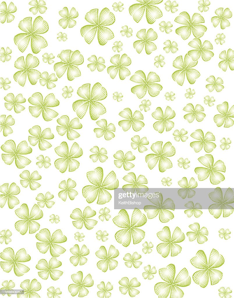 Four Leaf Clover Background - Saint Patrick's Day
