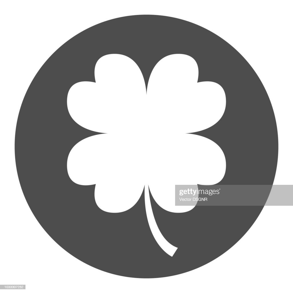 Four leaf clover icon. Saint Patrick's Day symbol. Vector