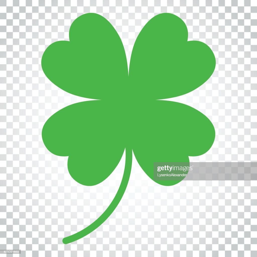 Four leaf clover vector icon. Clover silhouette simple icon illustration. Simple business concept pictogram on isolated background.