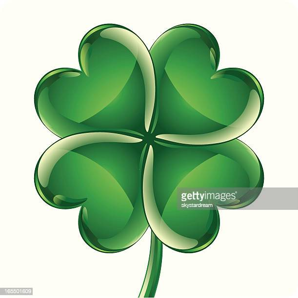 four leaf cloverのイラスト素材と絵 getty images