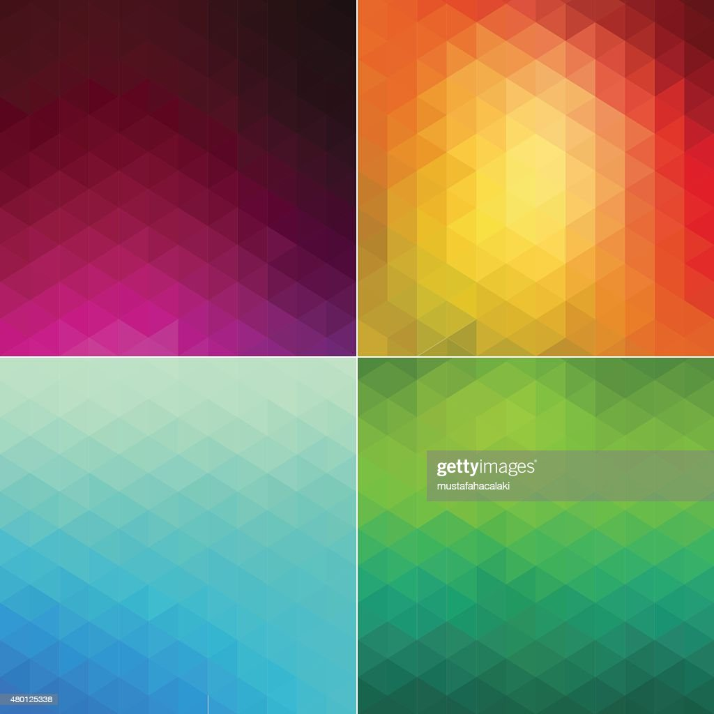 Four mosaic style backgrounds