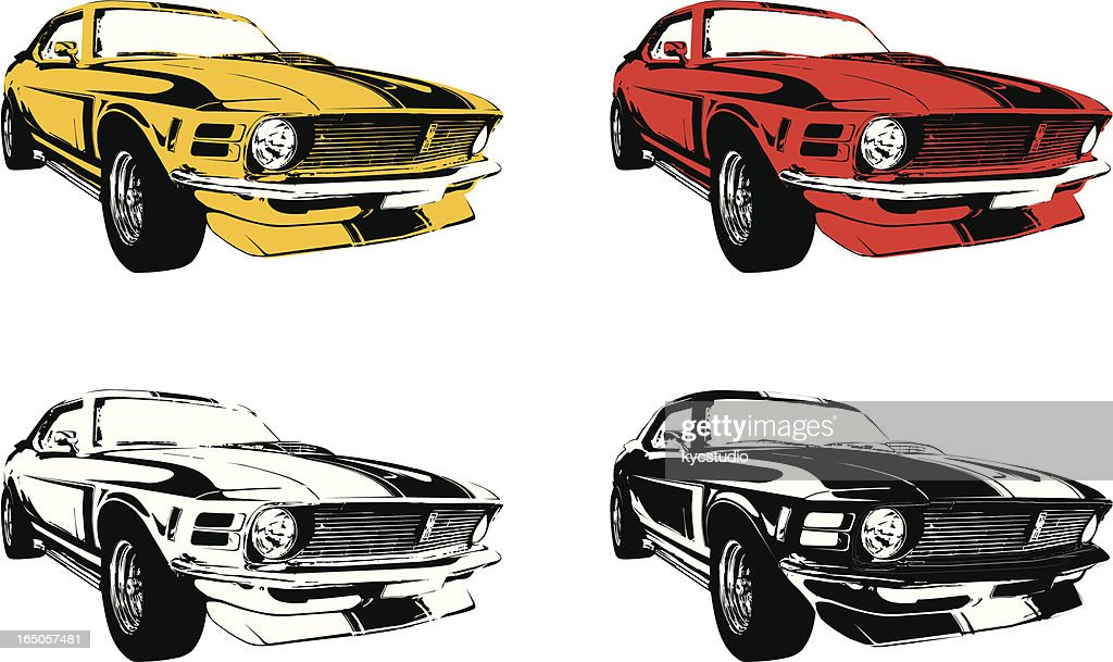 four muscle cars