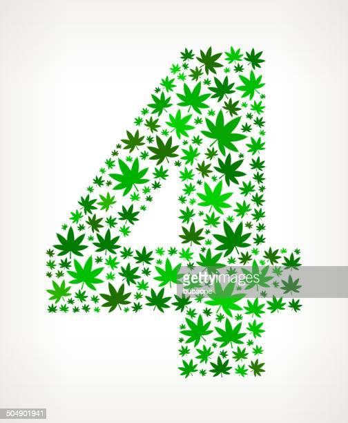 illustrations, cliparts, dessins animés et icônes de quatre au cannabis motif d'art vectorielles libres de droits - quatre personnes