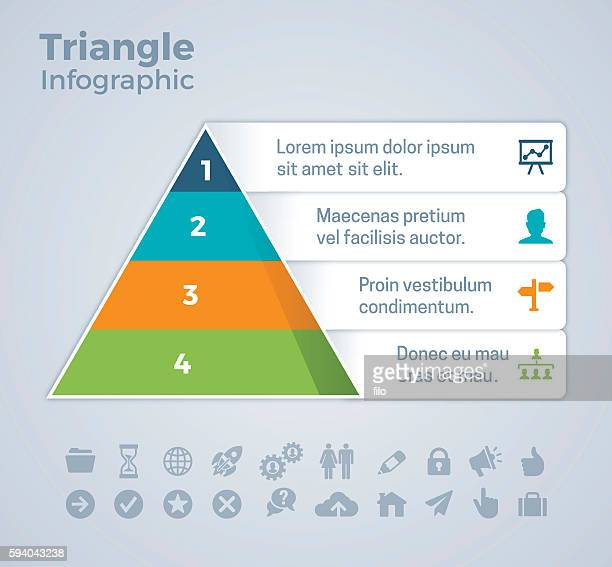 Four Option Triangle Infographic