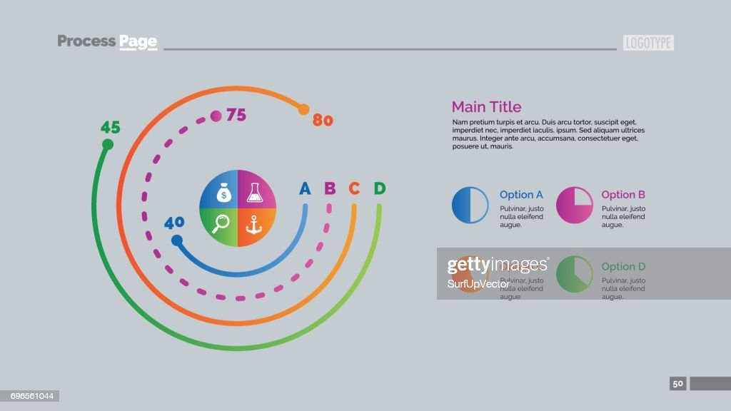 Four options doughnut chart slide template vector art getty images four options doughnut chart slide template vector art ccuart Gallery
